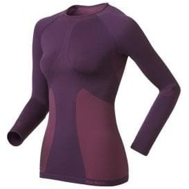Odlo Evolution Warm Quality Long Sleeve Base Layer Purple Women's
