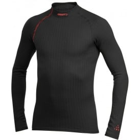 Craft Zero Extreme Long Sleeve Base Layer Black/Lava Mens