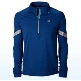 New Balance NBX Welded 1/2 Zip Blue Mens