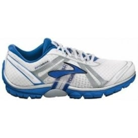 Brooks Pure Cadence Minimalist Road Running Shoes White/Deep Royal/Silver Mens