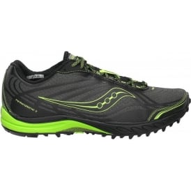 Saucony ProGrid Peregrine 2 Minimalist Trail Running Shoes Black/Citron Women's