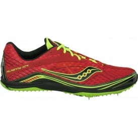 Saucony Kilkenny XC4 Cross Country Spikes Red/Citron/Black