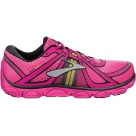 Brooks Pure Flow Minimalist Road Running Shoes KnockoutPink/Pinkglo/Black Kids