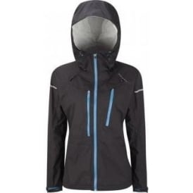 Ronhill Trail Tempest Waterproof Running Jacket Black/Lapis Blue Women's