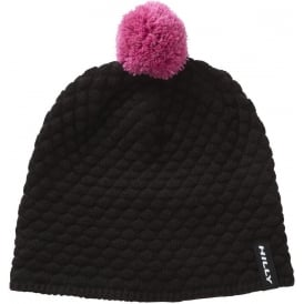 Hilly Nite Bobble Hat Black/Pink