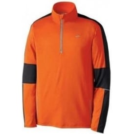 Brooks Nightlife Essential Run 1/2 Zip Brite Orange/Anthracite Mens