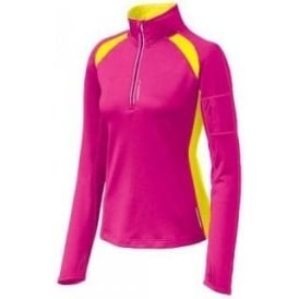 Brooks Nightlife Essential Run 1/2 Zip Brite Pink/Nightlife Women's