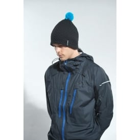 Hilly Nite Bobble Hat Black/Blue