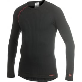Craft Active Extreme Run Long Sleeve Base Layer Black/Lava Mens