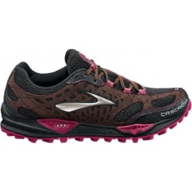 Brooks Cascadia 7 Trail Running Shoes Black/ShoppingBag/Cerise Women's