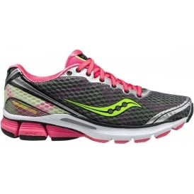 Saucony PowerGrid Triumph 10 Road Running Shoes Grey/Pink/Citron Women's