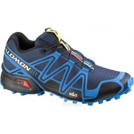 Salomon Speedcross 3 Trail Running Shoes Blue/Black Mens