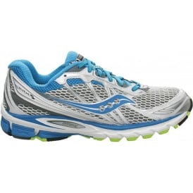 Saucony ProGrid Ride 5 Road Running Shoes White/Bright Blue/Grey Women's