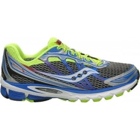 Saucony ProGrid Ride 5 Road Running Shoes Grey/Citron/Blue Mens