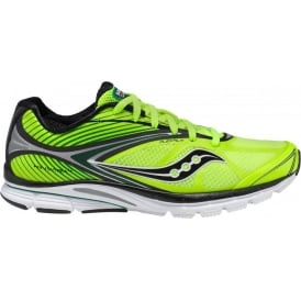 Saucony Kinvara 4 Minimalist Road Running Shoes Citron/Black/Green Mens