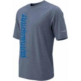 Brooks EZ Tee II Running T-Shirt Heather Flint Mens