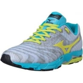 Mizuno Wave Sayonara Running Shoes White/LimeGreen/Blue Women's