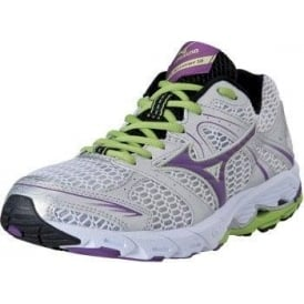 Mizuno Wave Alchemy 12 Road Running Shoes Silver/PurpleMagic/Lime Punch Women's