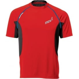 Inov8 Base Elite 140 Short Sleeve Tee Running T-Shirt Red/Blue Mens
