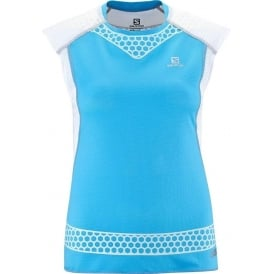 Salomon S-Lab Exo Tank Score Blue Womens