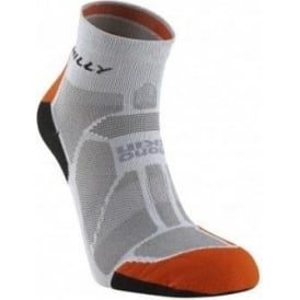 Hilly Marathon Fresh Running Socks Grey/Orange/Black