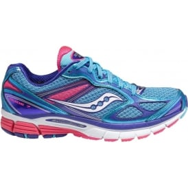 Saucony Guide 7 Road Running Shoes Blue/Pink Womens