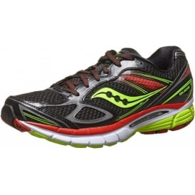 Saucony Guide 7 Road Running Shoes Black/Citron/Red Mens