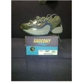 Saucony Grid Departure Trail Shoes Grey/Navy/Orange Womens
