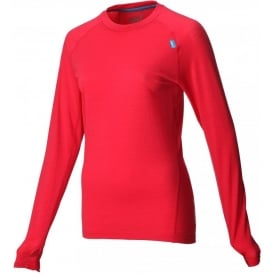 Inov8 Base Elite 125 Long Sleeve Merino Base Layer Red Womens