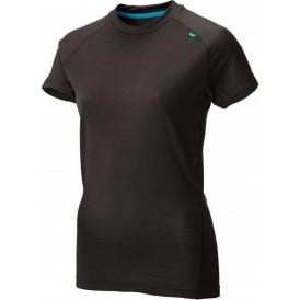 Inov8 Base Elite 95 Short Sleeve Merino Base Layer Black/Turquoise Womens
