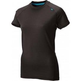 Inov8 Base Elite 95 Short Sleeve Merino Base Layer Black/Turquoise Womens