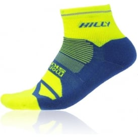 Hilly Photon Anklet Running Socks Fluo Yellow/Cobalt