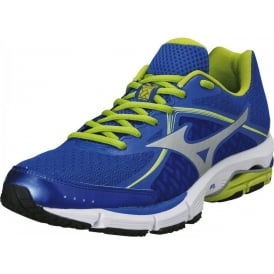 Mizuno Wave Ultima 6 Road Running Shoes Blue/Silver/Lime Mens