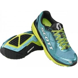 Scott AF+ Trainer Road Running Shoes Blue/Yellow Womens
