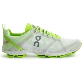 ON Cloudracer Road Racing Shoes Silver/Lime Mens