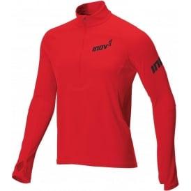 Inov8 Base Elite Long Sleeve Zip Running Top Red Mens