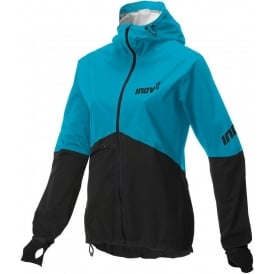 Inov8 Race Elite Raceshell Full Zip Waterproof Running Jacket Turquoise/Black Womens