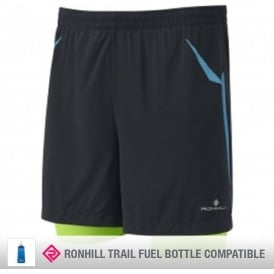Ronhill Trail Fuel Twin Short Black/Gecko Mens