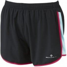 Ronhill Aspiration Liberty Short Black/Aquamarine Womens