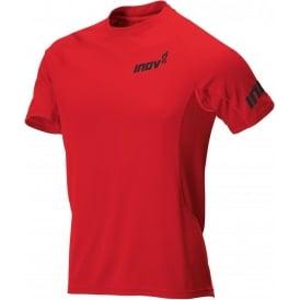 Inov8 Base Elite Short Sleeve Running Tee Red Mens