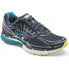 Brooks Defyance 8 Road Running Shoes Peacoat/Caribbean/Lime Punch (B WIDTH - STANDARD) Womens