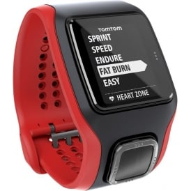 TomTom Runner Cardio GPS Watch and Heart Rate Monitor Black/Red