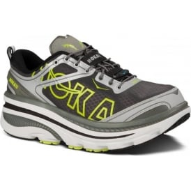 Hoka Bondi 3 Road Running Shoes White/Silver/Citrus Mens