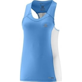 Salomon Agile Tank Blue Womens