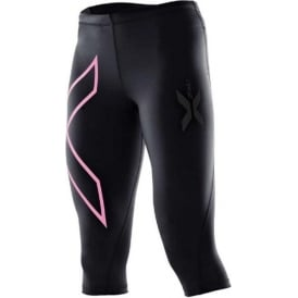 2XU 3/4 Compression Tights Black/Pink Womens