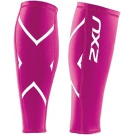 2XU Compression Calf Guards Unisex Hot Pink