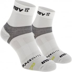 Inov8 Race Elite Sock Mid White Twin Pack