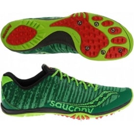 Saucony Kilkenny XC Cross Country Spikes Green Mens