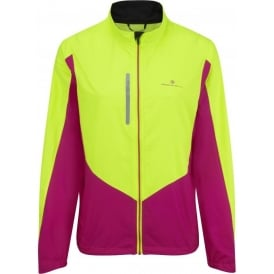 Ronhill Vizion Windlite Running Jacket Fluo Yellow/Magenta Womens
