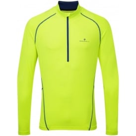 Ronhill Base Thermal 200 1/2 Zip Tee AW15 Yellow/Blue Mens